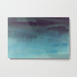 Sky Watercolor Texture Abstract 603 Metal Print