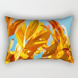 Autumn colors leaves against the blue sky #decor #society6 Rectangular Pillow