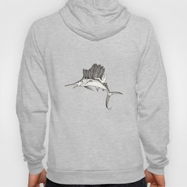 Surfing the fish Hoody