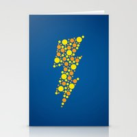 lightning Stationery Cards featuring Lightning by Danielle Podeszek