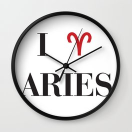I heart Aries Wall Clock