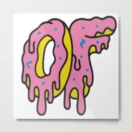 Odd Future Dripping Breast Logo Donut Metal Print