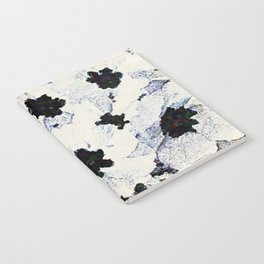 Black and White Floral with a Whisper of Color Notebook