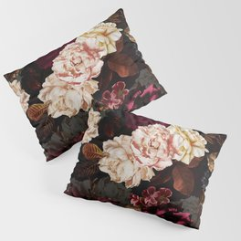 Vintage & Shabby Chic - Midnight Rose and Peony Garden Pillow Sham