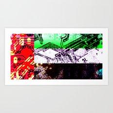 circuit board united arab emirates (flag) Art Print