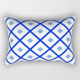 Classic Blue & White Pattern Rectangular Pillow