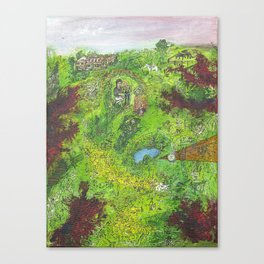 attacked idyll Canvas Print