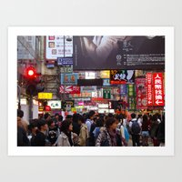 hong kong Art Prints featuring Hong Kong  by JulesEllingon