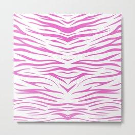 Zebra Pink Metal Print