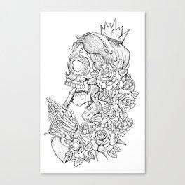 Suicide Sin Lineart Canvas Print