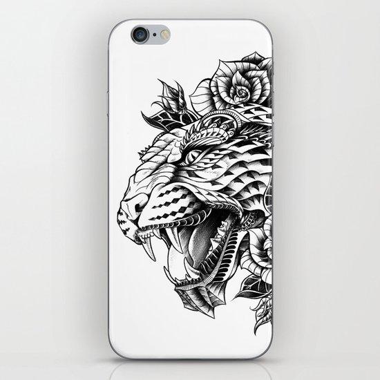 Ornate Leopard Black & White Variant iPhone & iPod Skin
