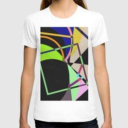 Retro Pastel X - Abstract, geometric, scandinavian pattern artwork T-shirt