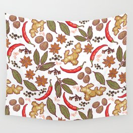Spices pattern. Wall Tapestry