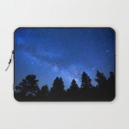 Milky Way (Black Trees Blue Space) Laptop Sleeve