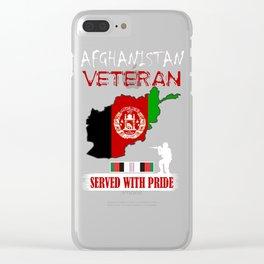 Afghanistan War Veteran Memorial Day Veterans Day Gift Design Idea Clear iPhone Case