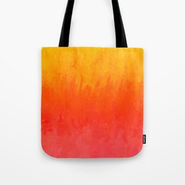 Coral, Guava Pink Abstract Gradient Tote Bag