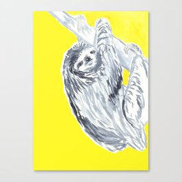 birthday sloth Canvas Print