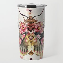 Butterfly flower watercolour painting Travel Mug