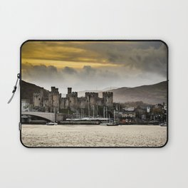 Sunset at Conwy Castle, North Wales Laptop Sleeve