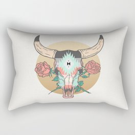 cráneo de vaca Rectangular Pillow