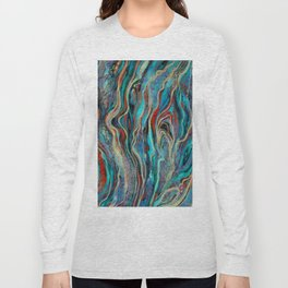 Colorful wavy abstraction Long Sleeve T-shirt