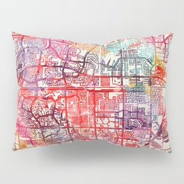 North Lauderdale map Florida FL Pillow Sham