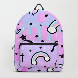 Cute Melting Pastel Chaos Backpack