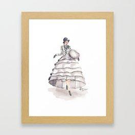 Art Deco Feminine Equestrian Framed Art Print