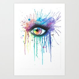 Rainbow Eye Colorsplash Art Print