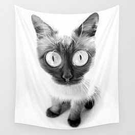 Funny alien cat Wall Tapestry