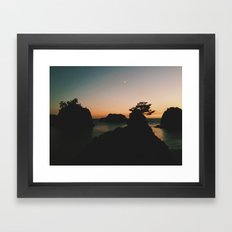 Southern Oregon Coast Sunset Framed Art Print