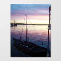 oslo Canvas Prints featuring Sunset Oslo by Samantha Snyder