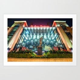 Busch Stadium - Saint Louis Cardinals and Stan Musial Art Print