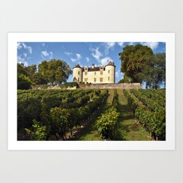 Medieval Castle in South West France Art Print