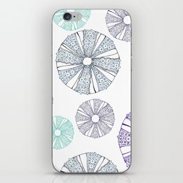 white sea urchin iPhone Skin