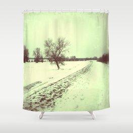 vintage winter Shower Curtain