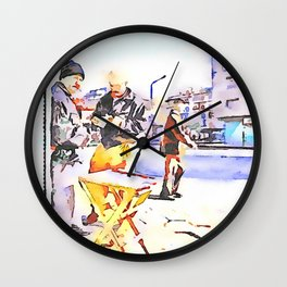 Street players in Aleppo Wall Clock