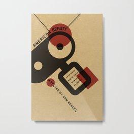 American Beauty Vintage Bauhaus poster Metal Print