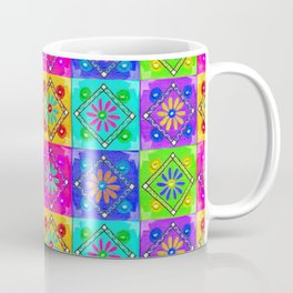 Boho Tapestry Tiles in India Silk Multi Coffee Mug