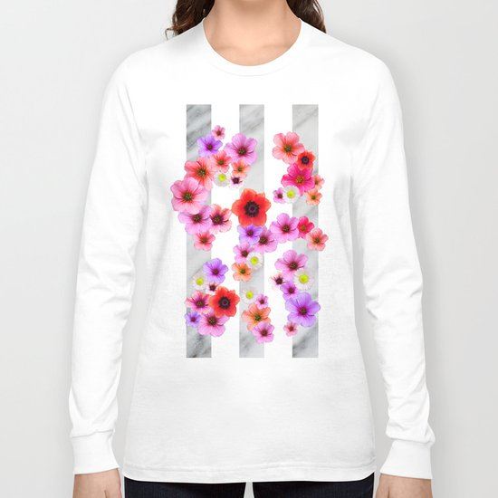 Flowers and Stripes 4 Long Sleeve T-shirt