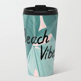 Pachira Aquatica Beach Vibes #1 #foliage #typo #decor #art #society6 Travel Mug
