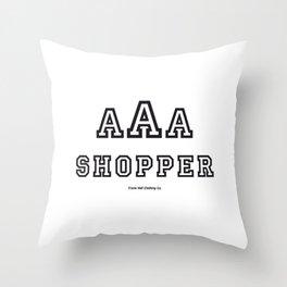 Triple-A Shopper Throw Pillow