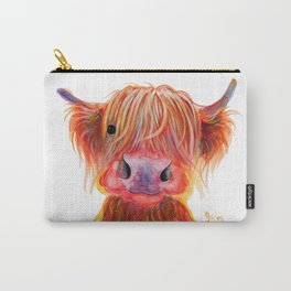 Scottish Highland Cow ' CHILLI CHOPS ' by Shirley MacArthur Carry-All Pouch