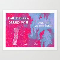 Fall 7 times, stand up 8 Art Print