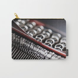 Typewriter Angled Carry-All Pouch