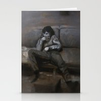 lou reed Stationery Cards featuring Lou by Nuez Rubí