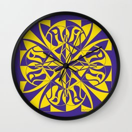 Think Mandala - Purple Yellow Wall Clock
