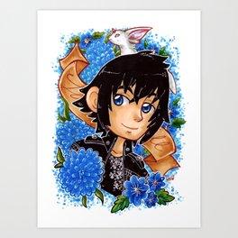 Noctis in blue Art Print
