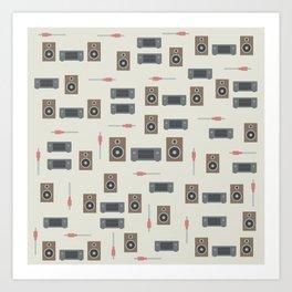 Stereo system Art Print