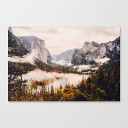Amazing Yosemite California Forest Waterfall Canyon Canvas Print